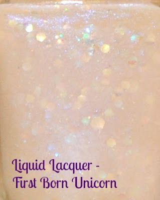 ***SWAPPING****  Liquid Lacquer First Born Unicorn _ used a couple of times, fill line is bellow the rim of the bottle.