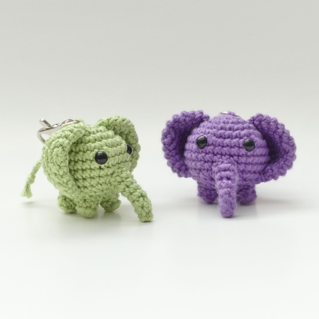 Free Crochet Elephant Pattern Amigurumi Elephant Keychain Free Pattern Crochet Patterns #crochetelephantpattern