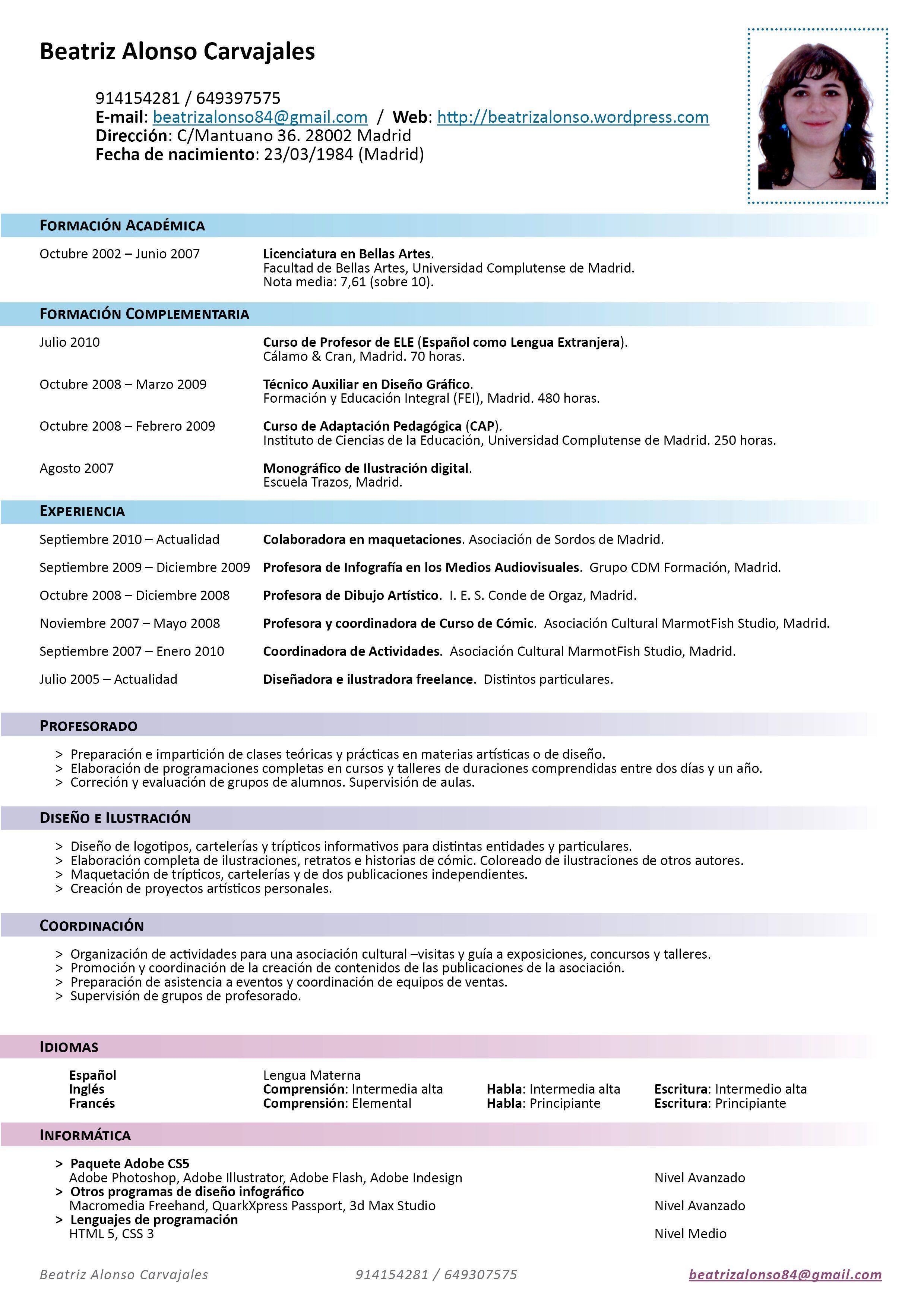 Modelos En Espanol De Curriculum Vitae Modelo De Curriculum Vitae Curriculum Vitae Job Resume Format Job Resume