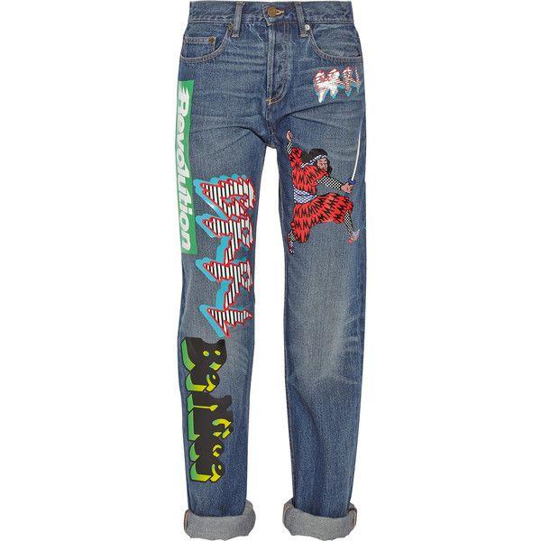 Annie printed mid-rise boyfriend jeans (375 CAD) ❤ liked on Polyvore featuring jeans, pants, bottoms, denim, pantalon, marc by marc jacobs jeans, blue jeans, boyfriend fit jeans, denim jeans and marc by marc jacobs