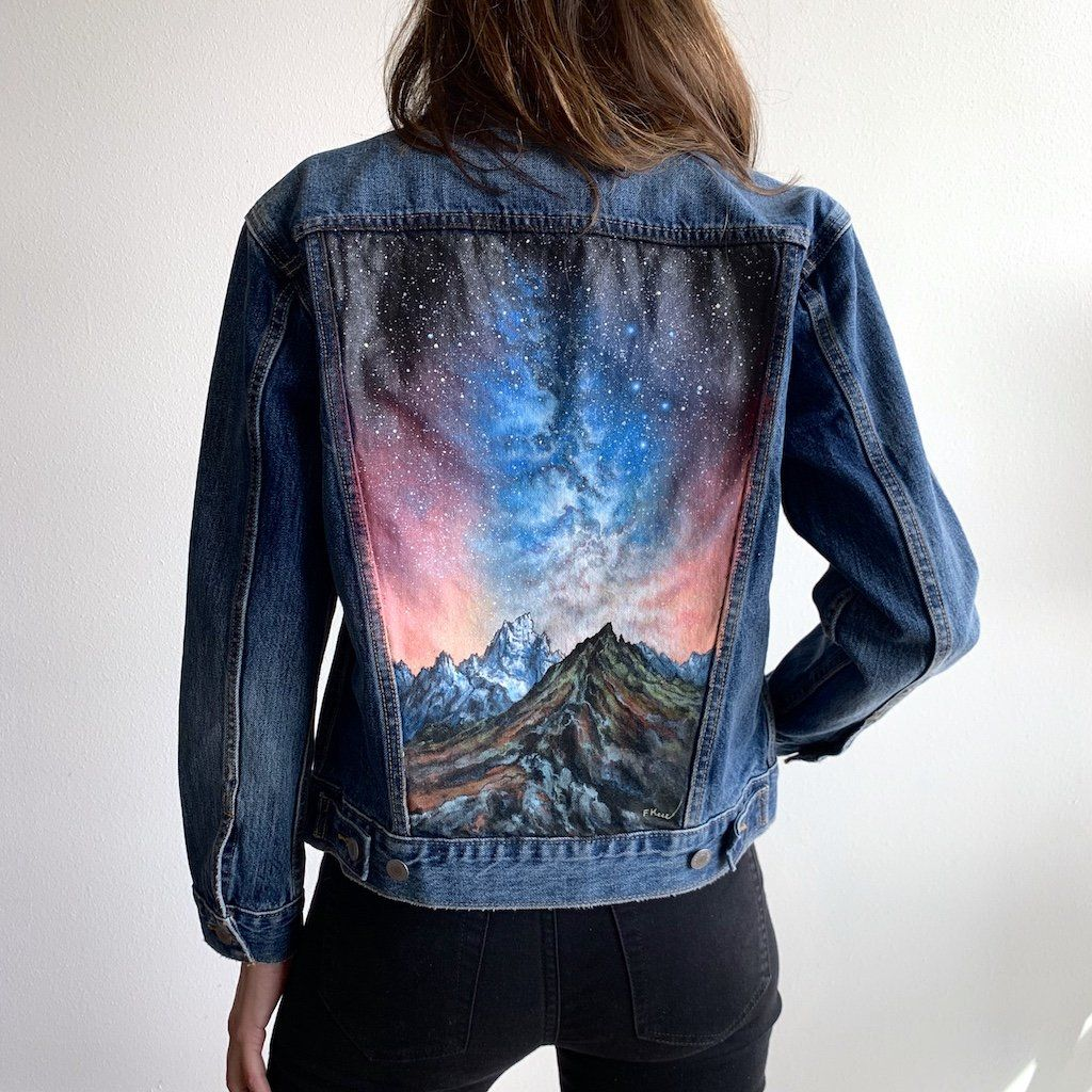 Original Levi's Painted Jean JacketWomen's Size X Small