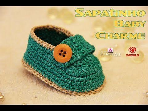 Conhecido Gráficos de Sapatinhos de Crochê para Recém Nascido | Professores  PI29