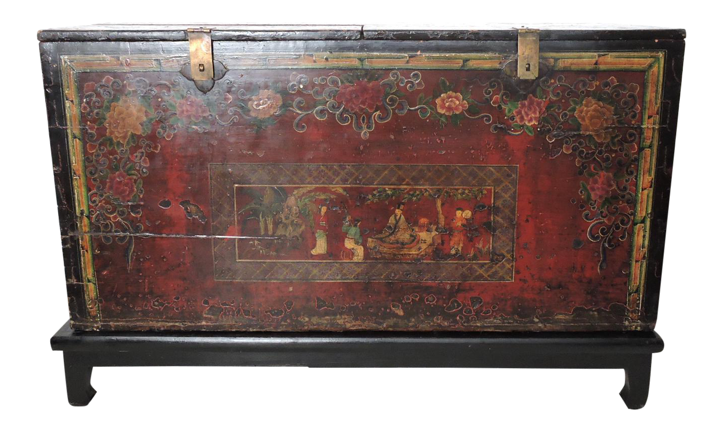 Ordinaire Large Antique And Historical Chinese Storage Trunk/Dowry Chest On  Chairish.com
