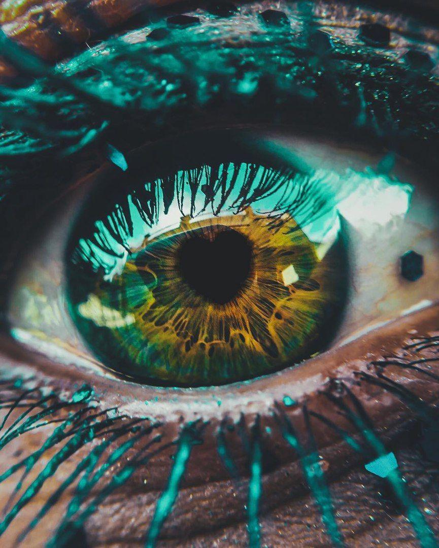 первоначальный необычные картинки с глазами цветом обозначены