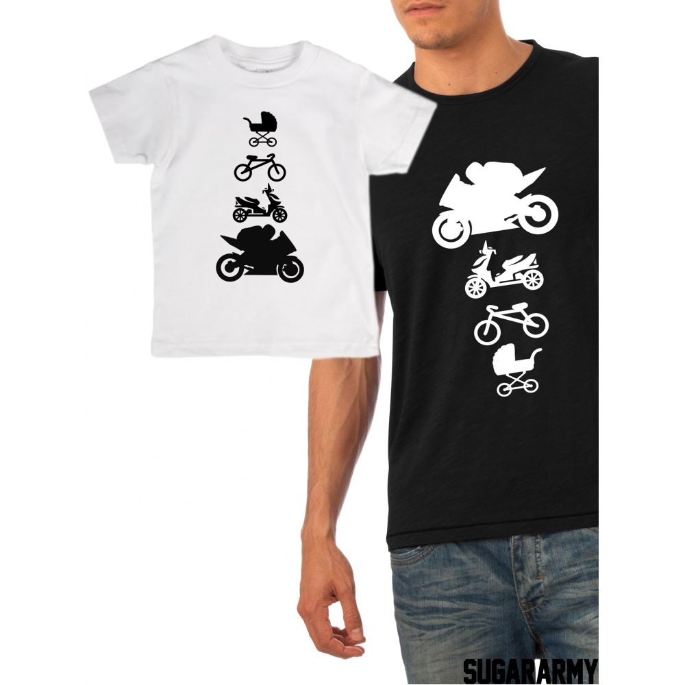 Bicycle And Tricycle Dad and Baby Matching T-shirts Cute Father/'s Day Gift Ideas
