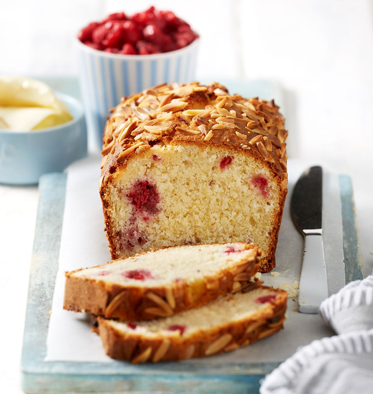 Glutenfree raspberry, almond and coconut loaf Recipe