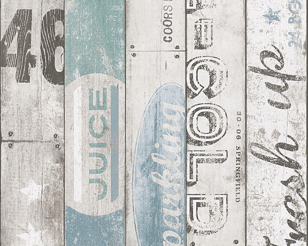 Livingwalls non-woven wallpaper collection SURFING &amp- SAILING ...