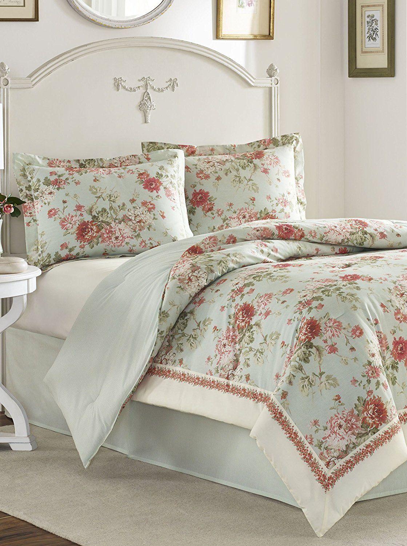 Queen Comforter Set Laura Ashley Vivienne Mint Products