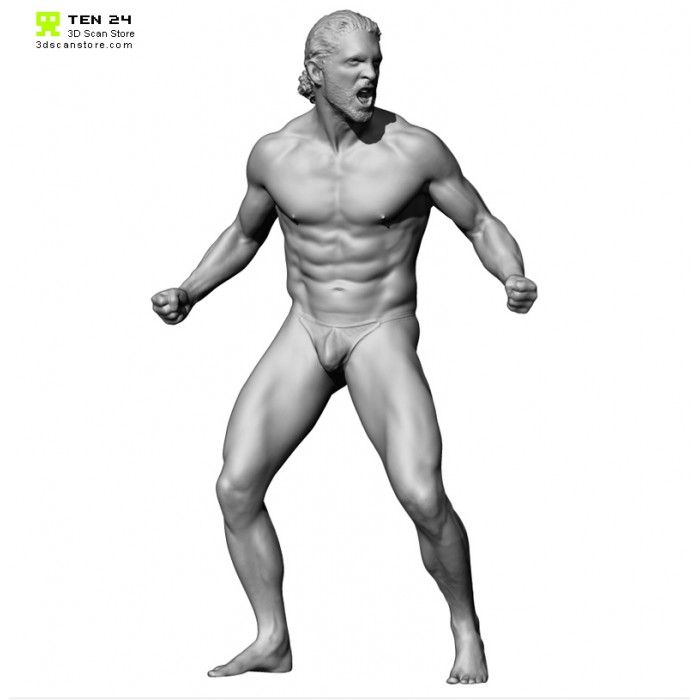 Colour Male 03 Anger Pose 19 | Pose | Man anatomy, Anatomy