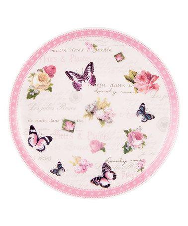 Pink+Vintage+Garden+Cocktail+Plate+#zulily+#zulilyfinds