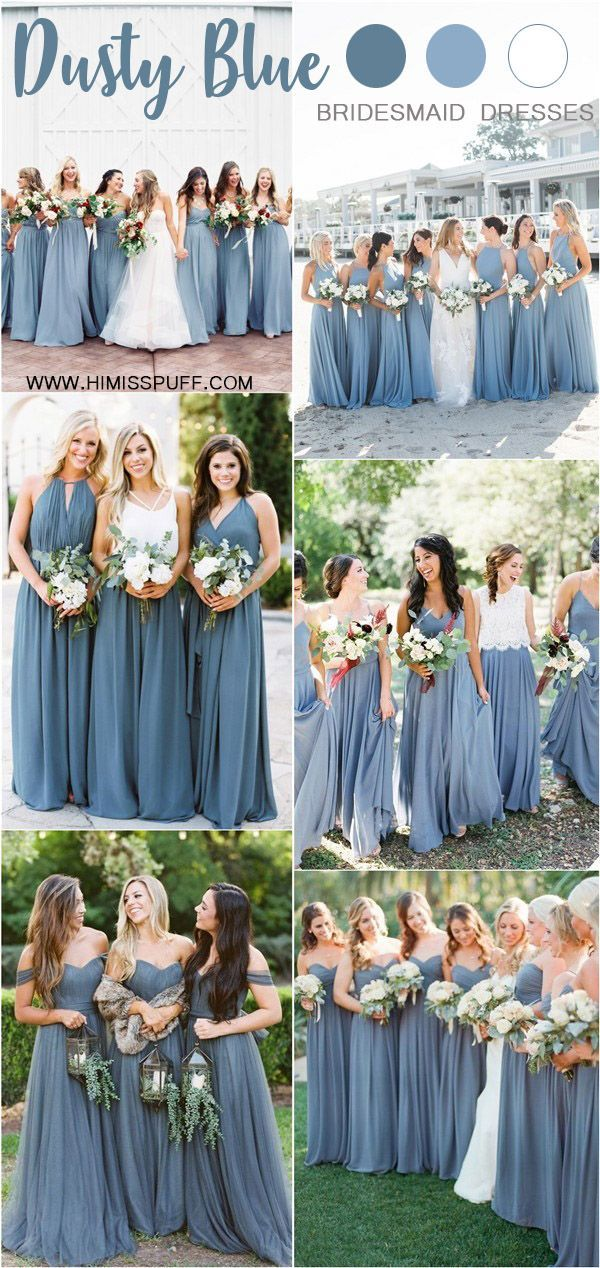 20 Dusty Blue Bridesmaid Dresses Youll Love