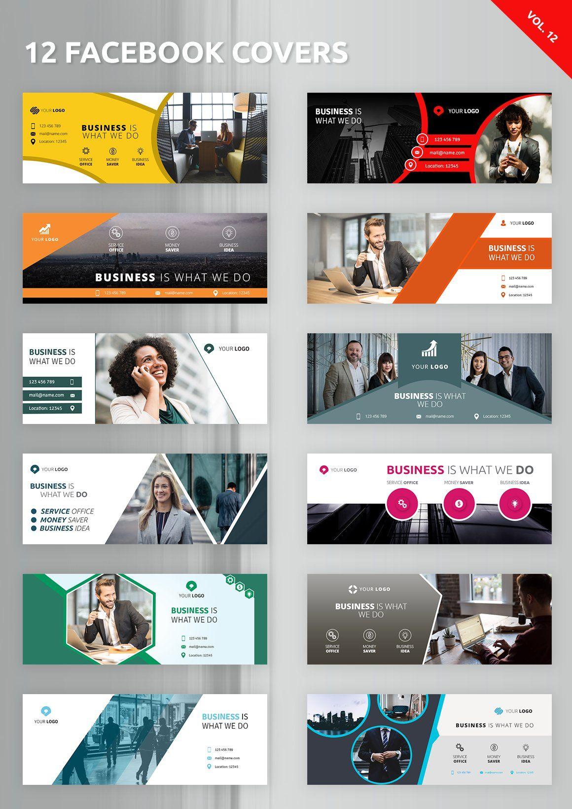 12 Facebook Covers Facebook Cover Design Facebook Ads Design