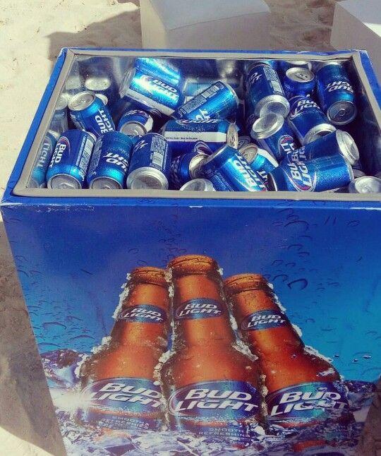 Cooler full of Bud light | KING OF BEERS | Ice cube trays, Bud light