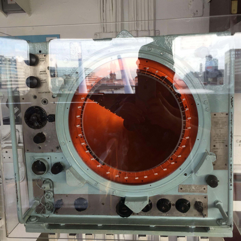 Sonar/radar system aboard the HMS Belfast...