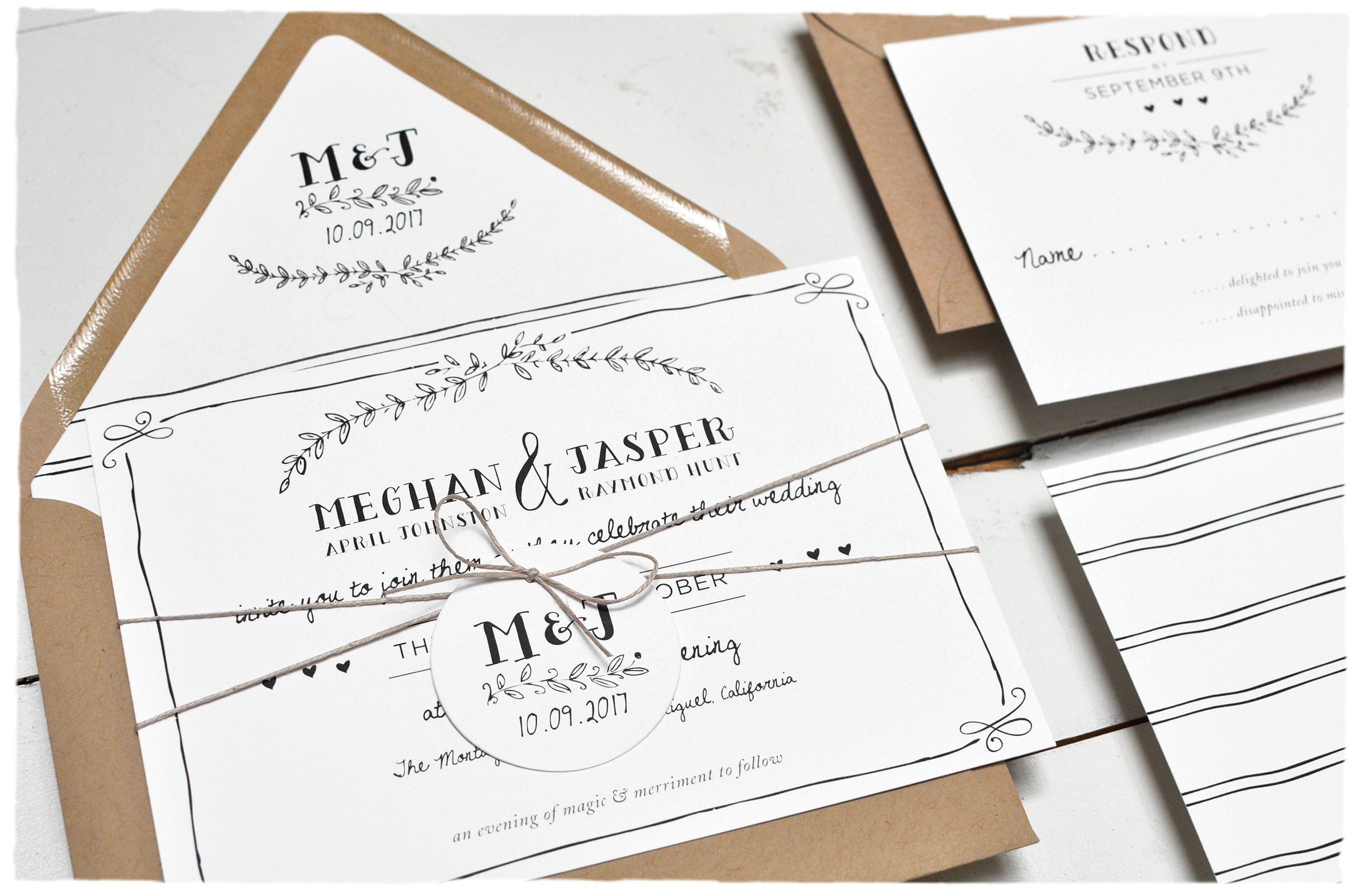 Eternal Wedding Invitation suite | Rustic outdoor barn wedding ...