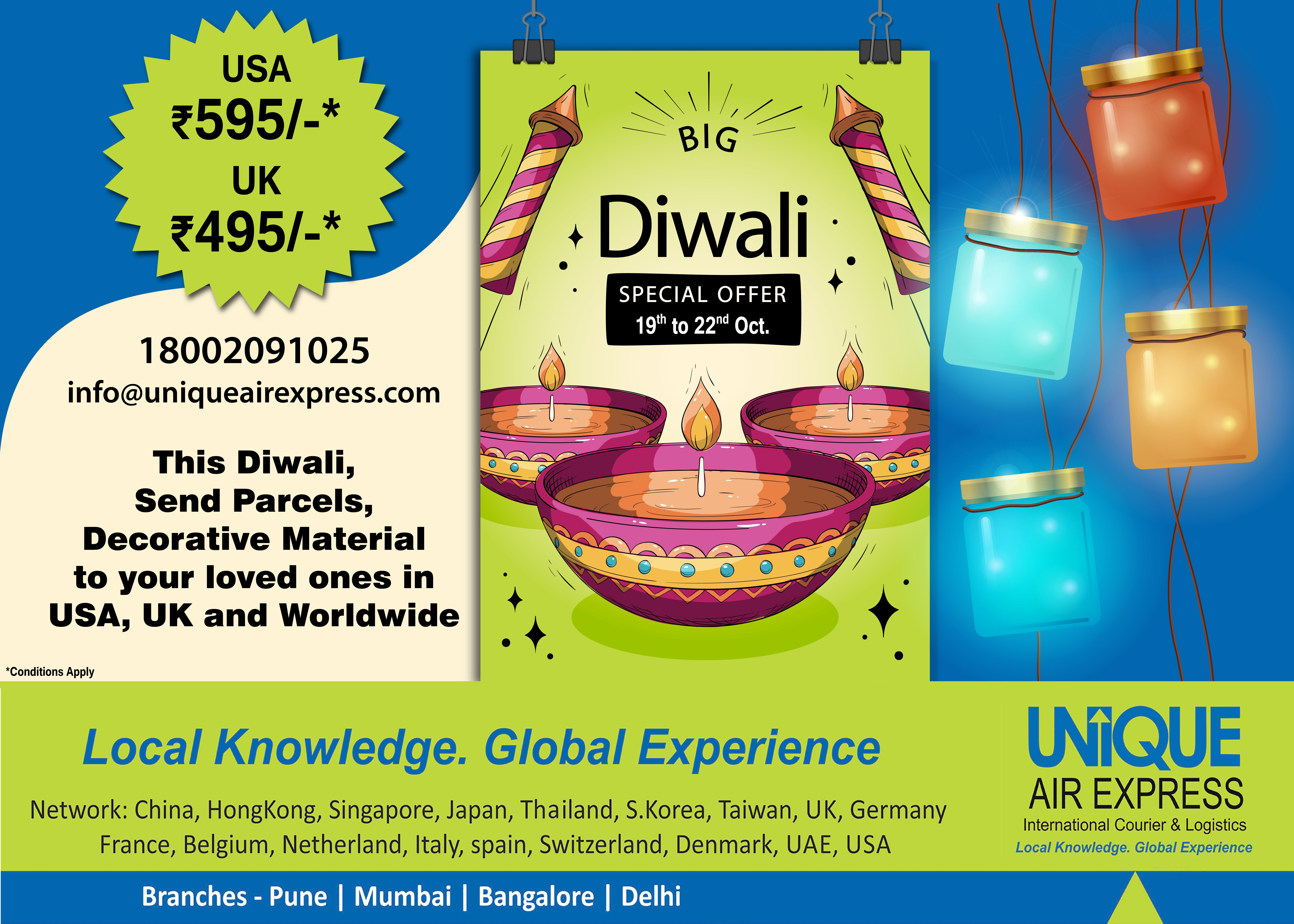 Now Send Diwali Faral Sweets, Gifts and Decorative