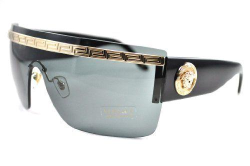 ade01870c12a Versace 2130 125287 Black 2130 Visor Sunglasses -  http   shopperselections.com