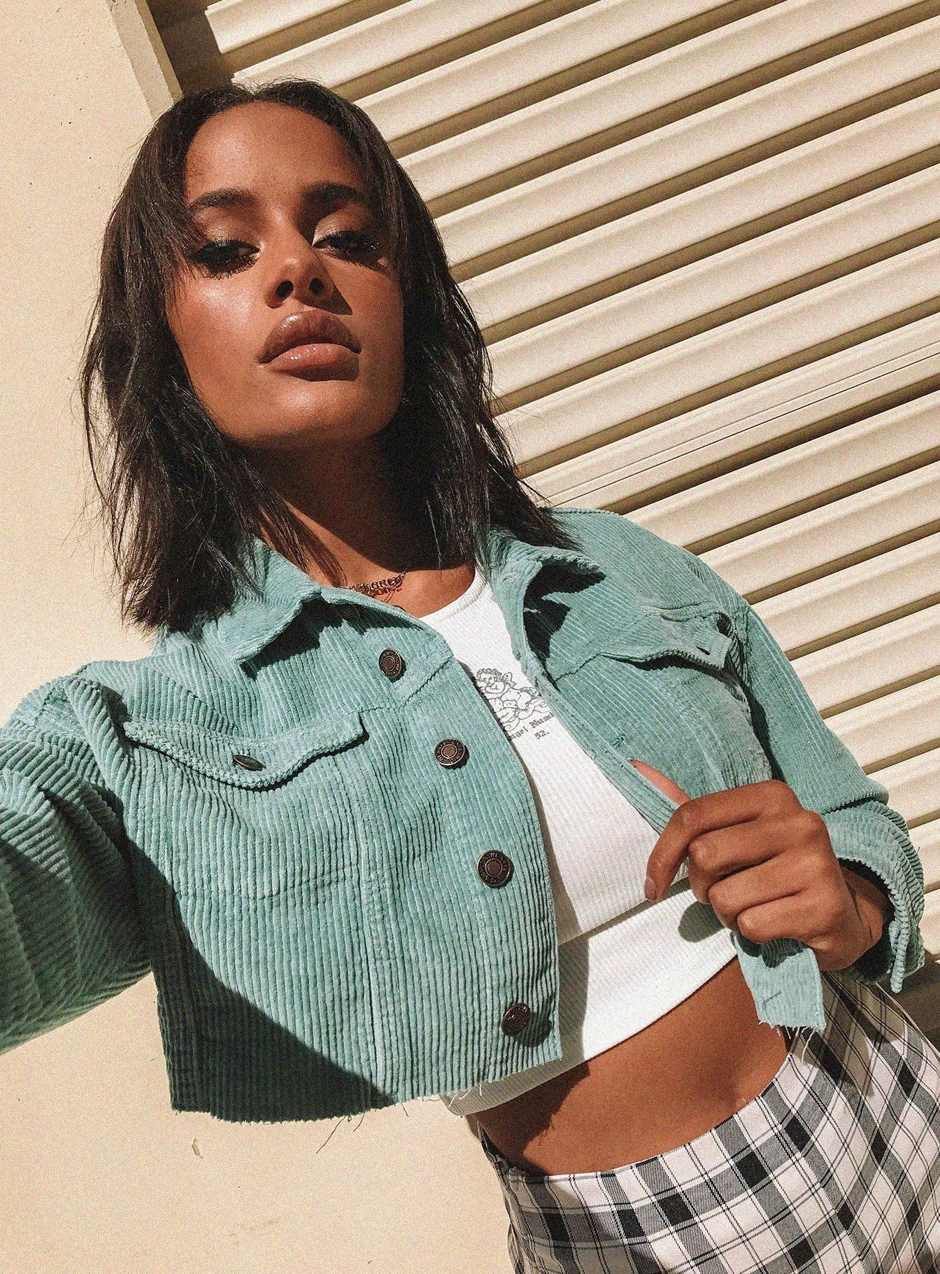 Bannow Cropped Jacket Sage in 2020 Crop jacket, Cropped