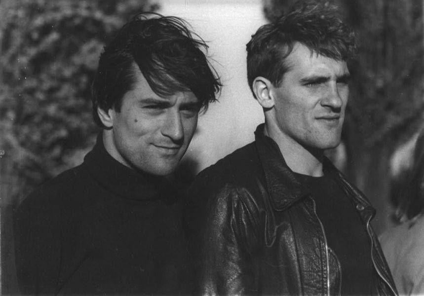 Robert De Niro & Gérard Depardieu  on the set of Bernardo Bertolucci's Novecento, 1976. h/t @mubi