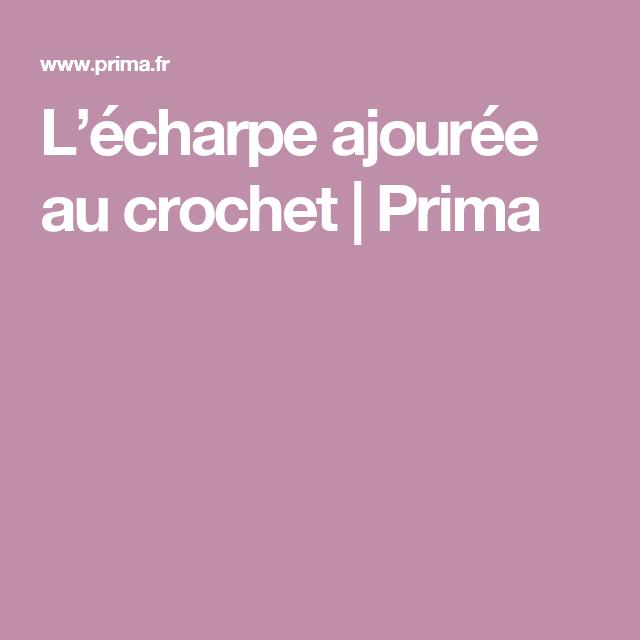 5dd755cd7e2f L écharpe ajourée au crochet   Crochet   Pinterest   Écharpes, Le ...