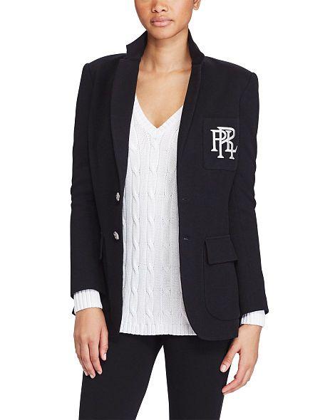 Knit Cotton Blazer Blazers Blazers Vests Ralphlauren Com Ralph Lauren Womens Clothing Ralph Lauren Blazer Blazer Jackets For Women