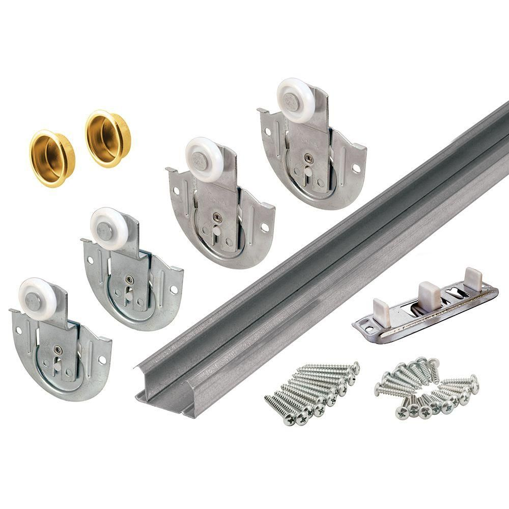 Prime Line Products 163592 Bypass Closet Track Kit, This Bypass Track Kit  Is Used For Closets Up To 96 In. It Includes Top And Bottom Tracks For 2  Door ...