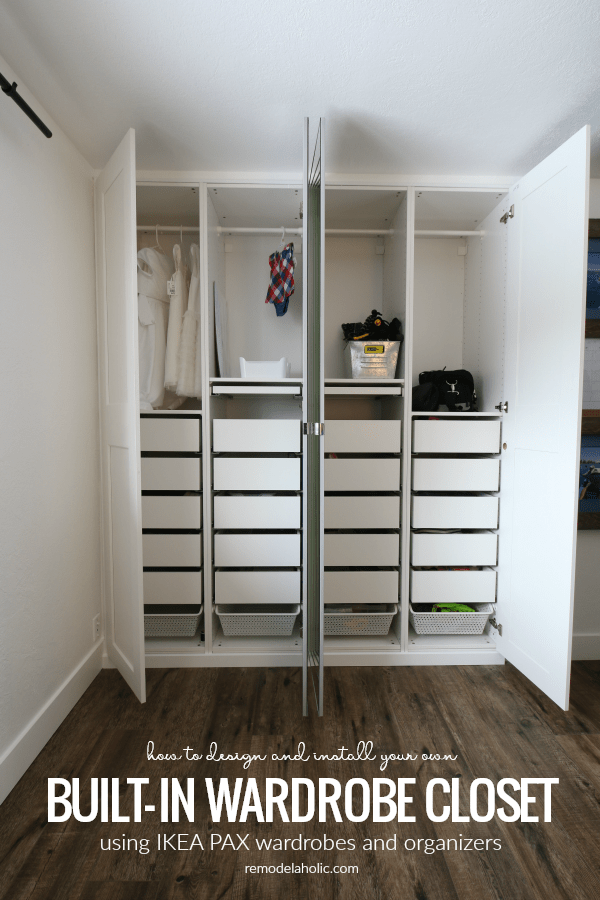 Ikea Pax Built In Wardrobe Closet In A Shared Girls Room Build