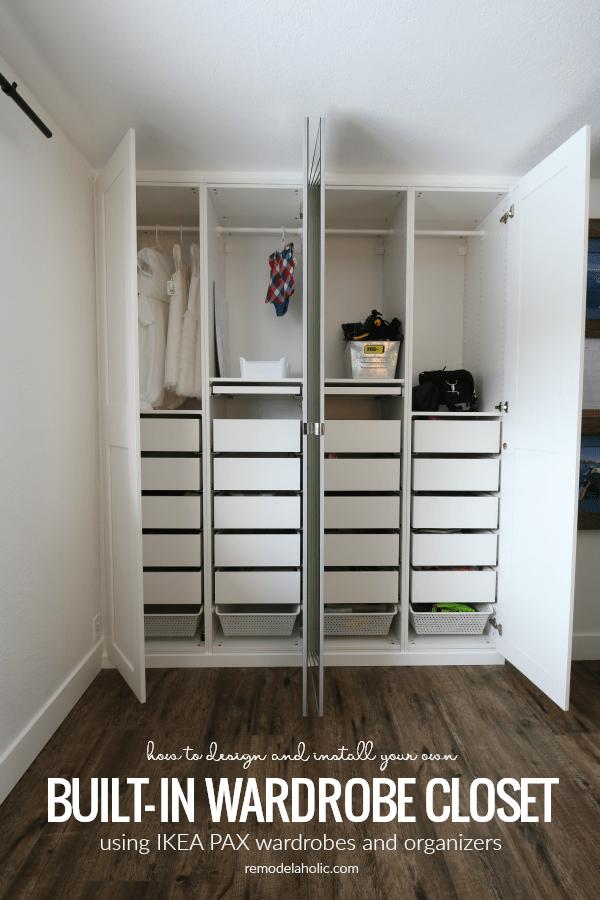 Ikea Pax Built In Wardrobe Closet In A Shared Girls Room Build A Closet Shared Girls Room Ikea Pax Wardrobe