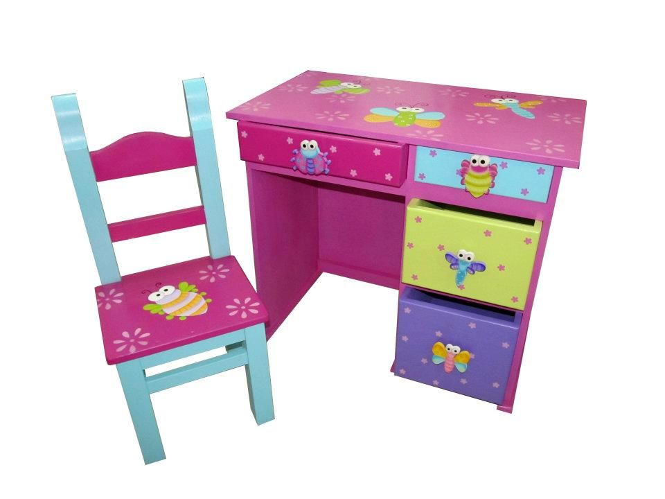 Bonito escritorio en madera de pino pintado en tecnica de - Tecnicas de pintar muebles ...