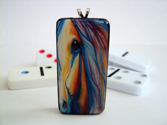 Colorful Horse Pendants Horse Necklaces by HappyPiecesJewelry