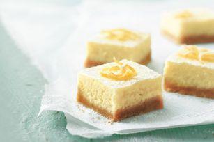 Cuadritos cremosos de limón receta