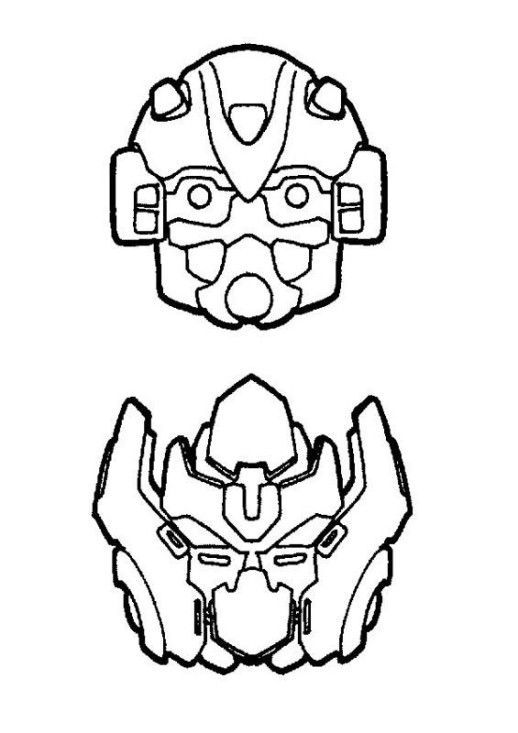 Bumble Bee Face Transformer Template