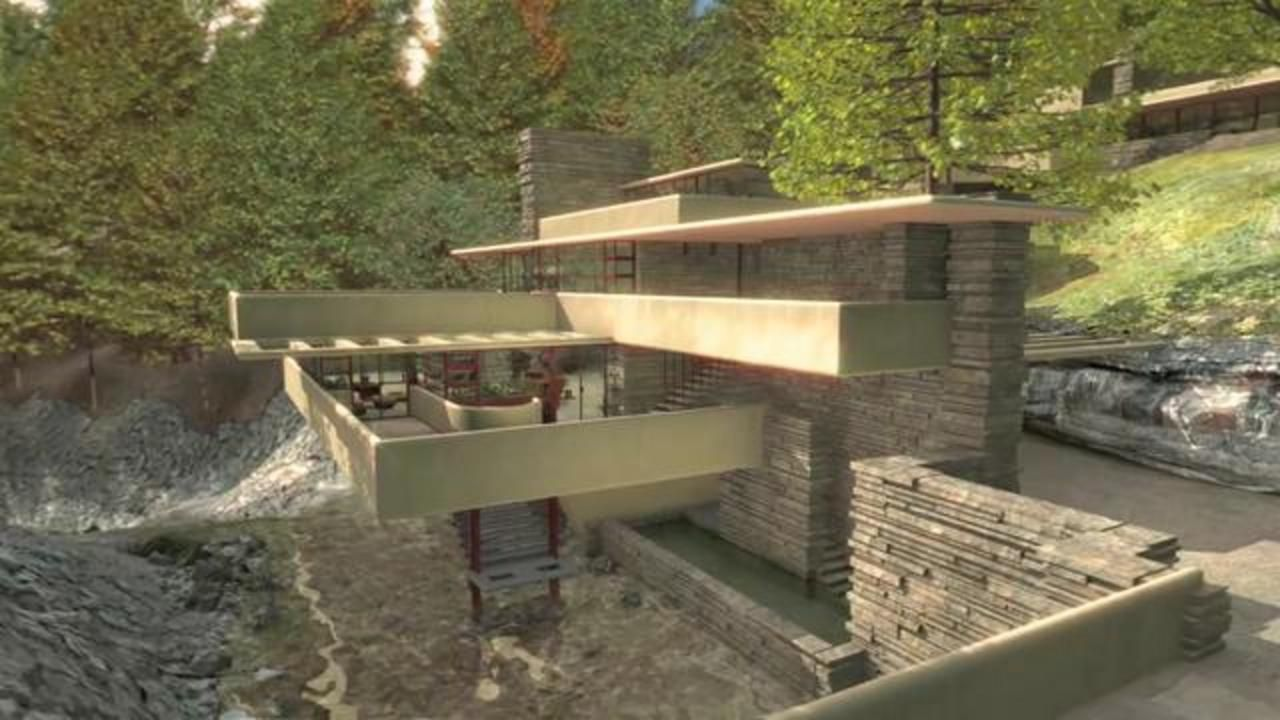 la maison sur cascade frank lloyd wright 1936 ventana blog. Black Bedroom Furniture Sets. Home Design Ideas