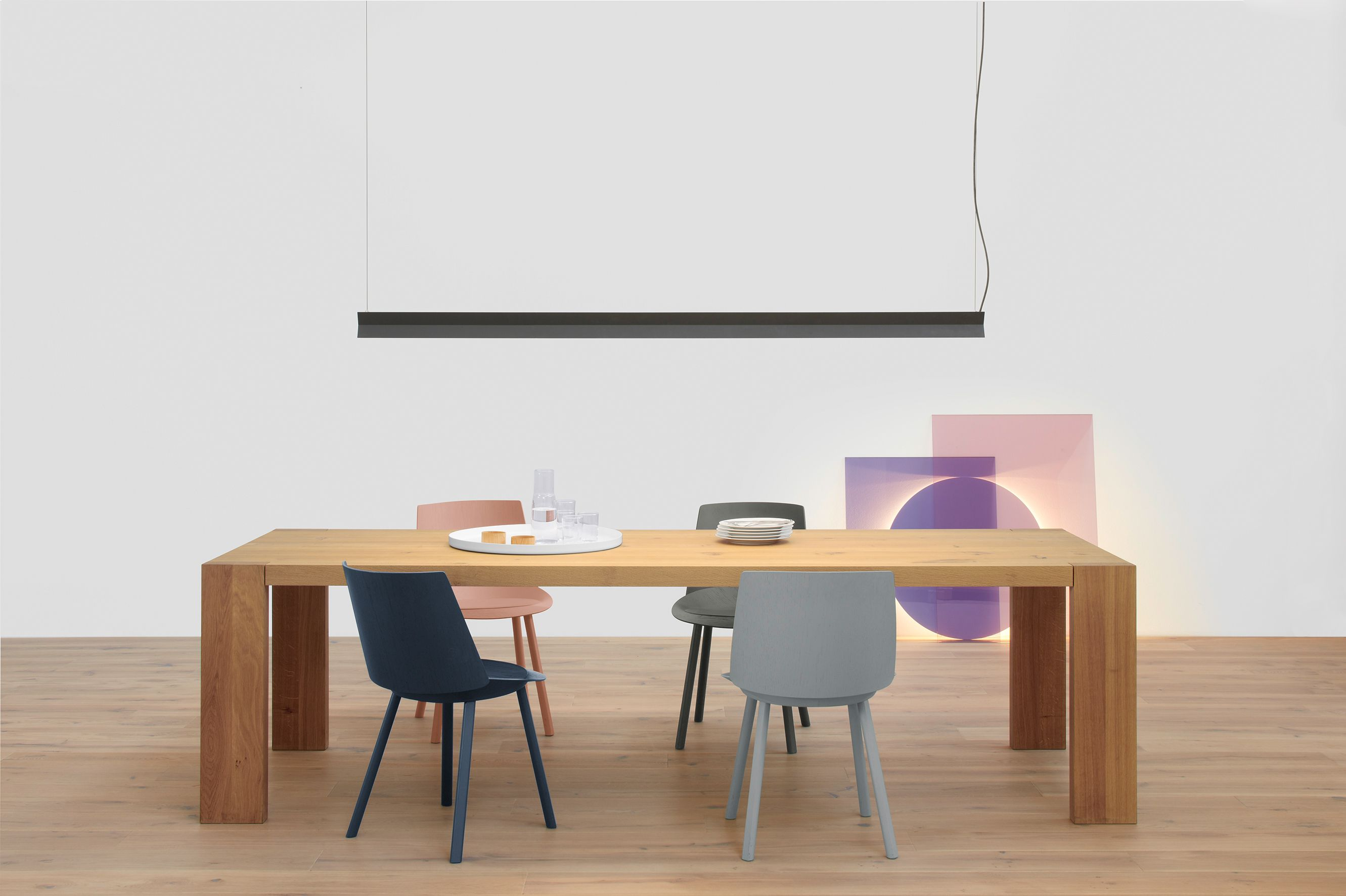 Solid wood table london by philipp mainzer featuring rectangular