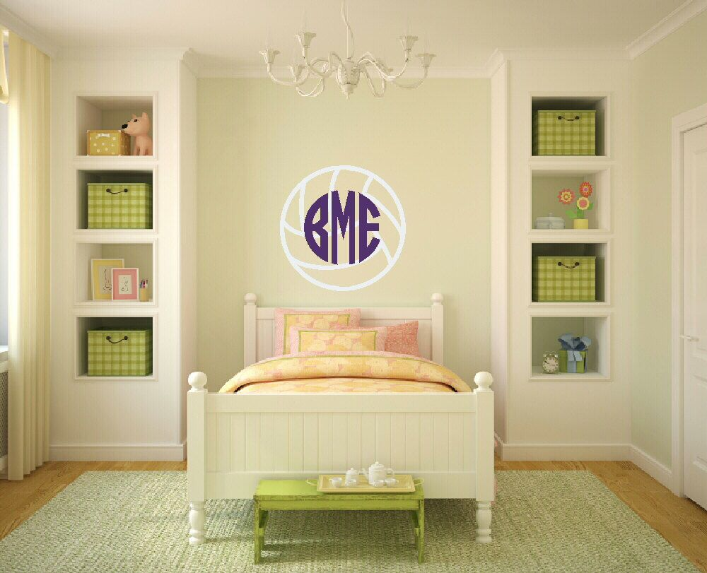 Volleyball Monogram Decal Volleyball Decal Volleyball Wall Decal ...