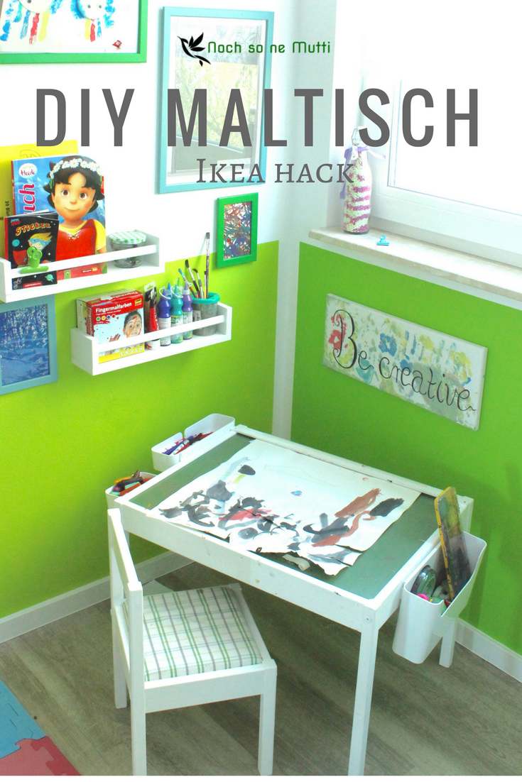 diy kreativ malecke im kinderzimmer montessori ikea. Black Bedroom Furniture Sets. Home Design Ideas