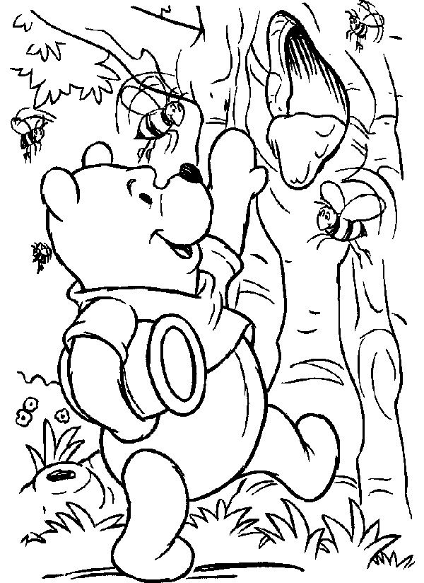 Winnie The Pooh Honey Tree Grab Coloring Pages Disney Coloring Pages Coloring Pages Thanksgiving Coloring Pages