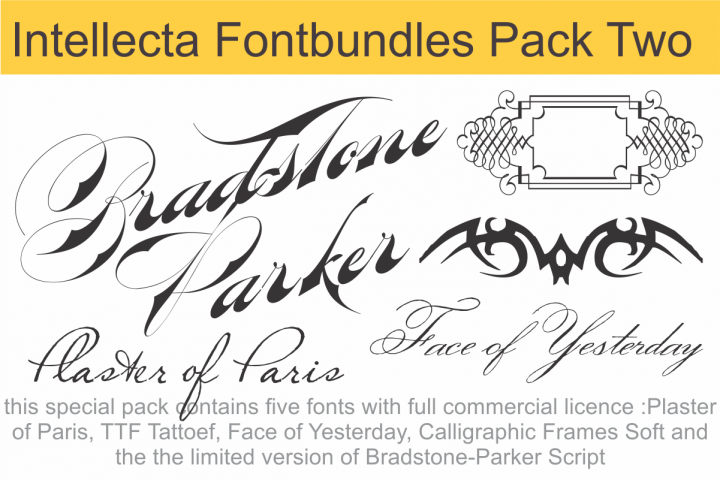 Download Intellecta Fontbundles Pack Two | Cool fonts, Script logo ...
