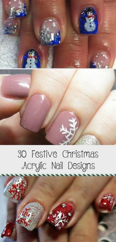 30 Festive Christmas Acrylic Nail Designs - Beauty -  Accent nail     pearl base with red stripes  ClassyAccentNails  AccentNailsPurple  AccentNailsPinky -  AccentNails  acrylic  beauty  christmas  designs  festive  Nail  NailArtGalleries  nails  StilettoNails #