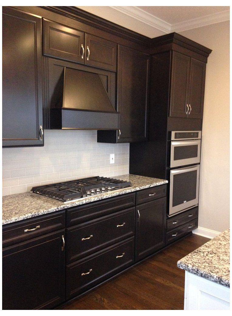 Hardwood #kitchen #backsplash #with #dark #cabinets #esp ...