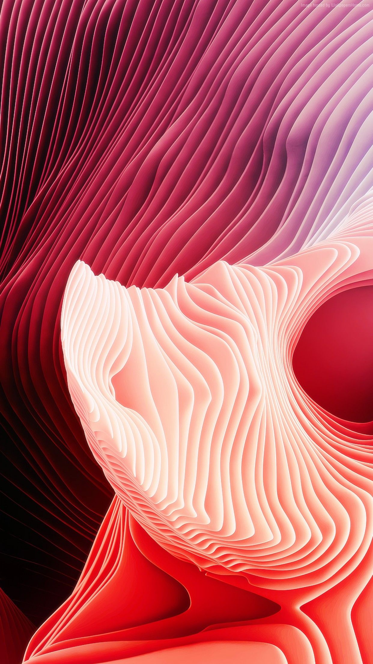 Red Abstract Apple Wallpaper Iphone Clean Beauty Colour