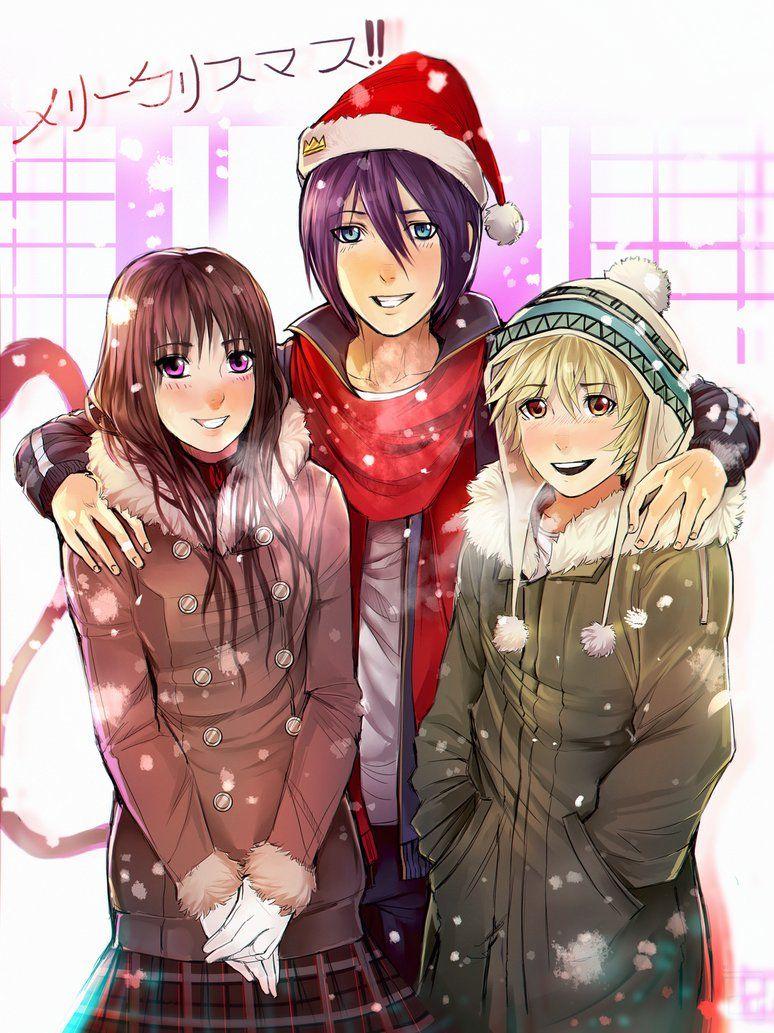 Hiyori, Yato, and Yukine // Noragami