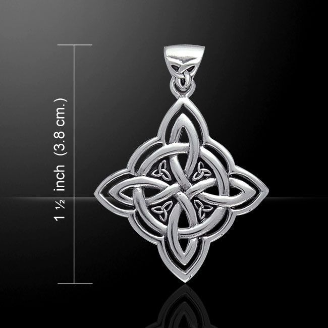 Celtic Witches Knot Pendant In 925 Sterling Silver Quaternary