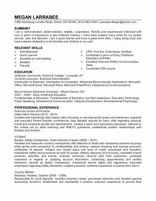 child care provider resume elegant child care resume