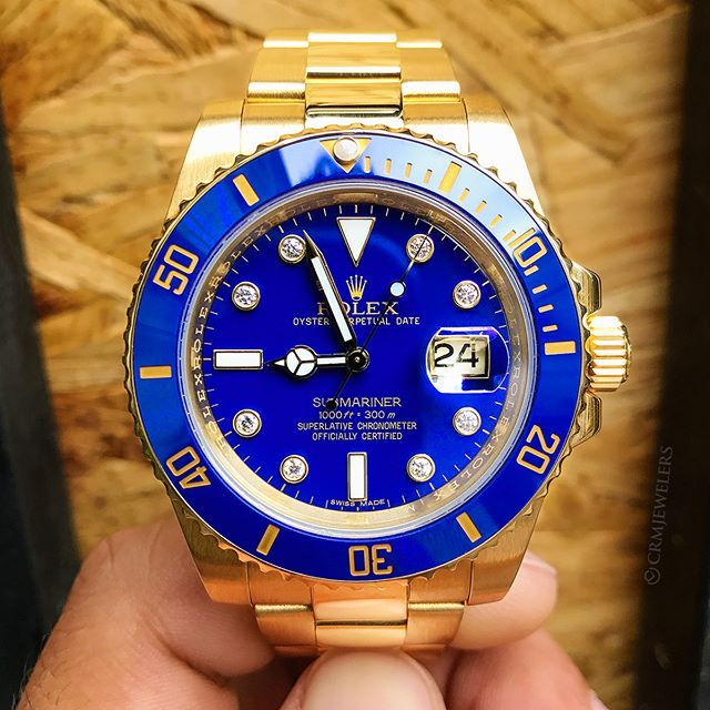f85dd2d8548 Rolex Submariner Blue and Gold Cop or Drop  DM For Pricing . . .