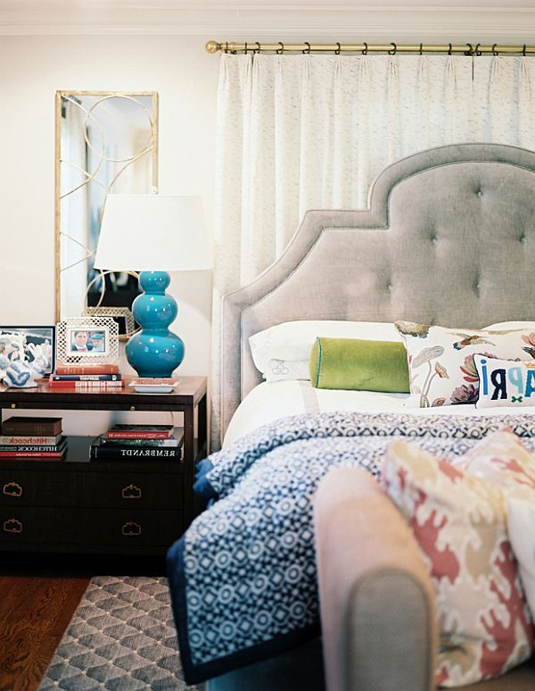 Ways To Use Sheer Curtains And Valences Above Headboard Decor