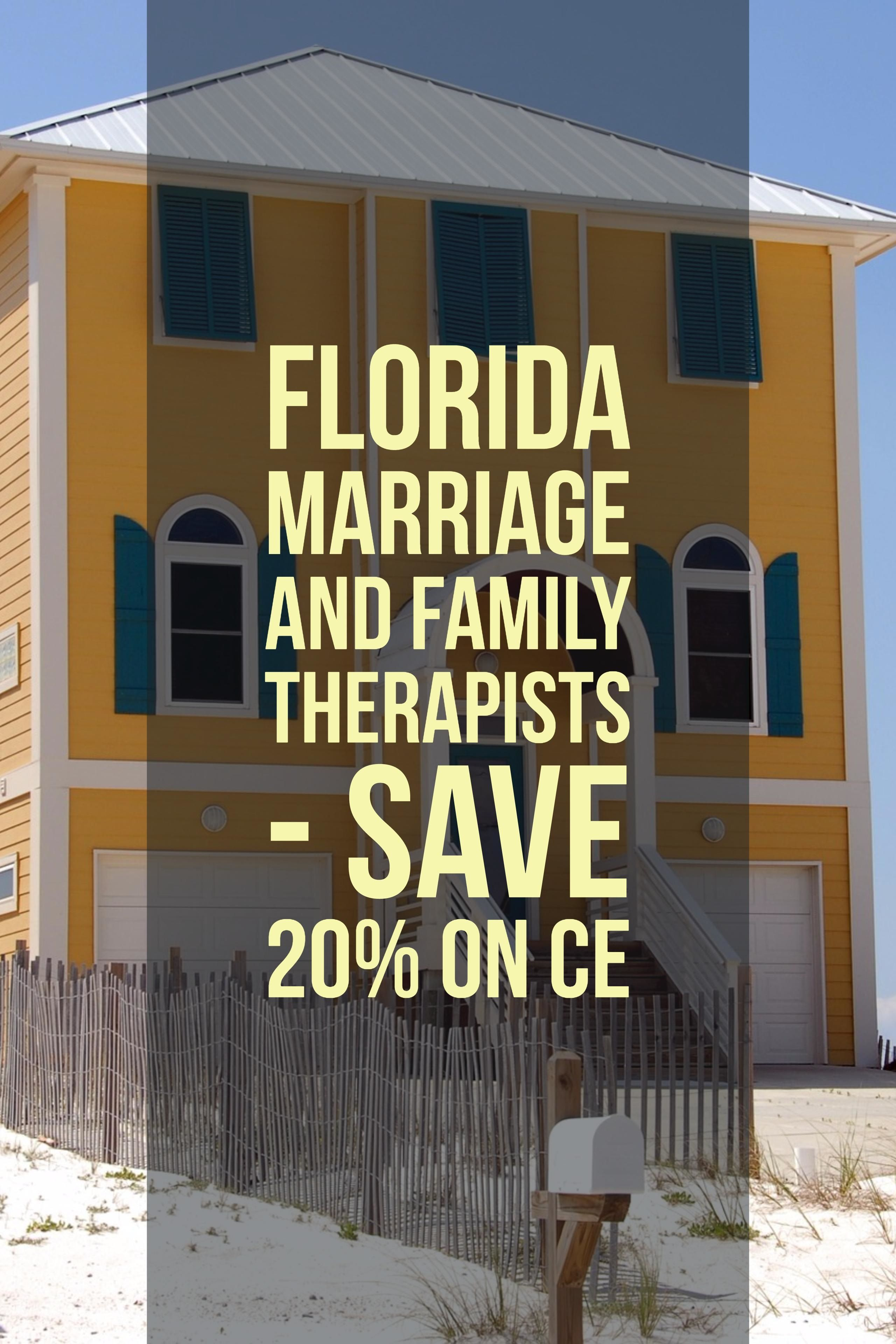 Continuing Education for Florida Marriage and Family