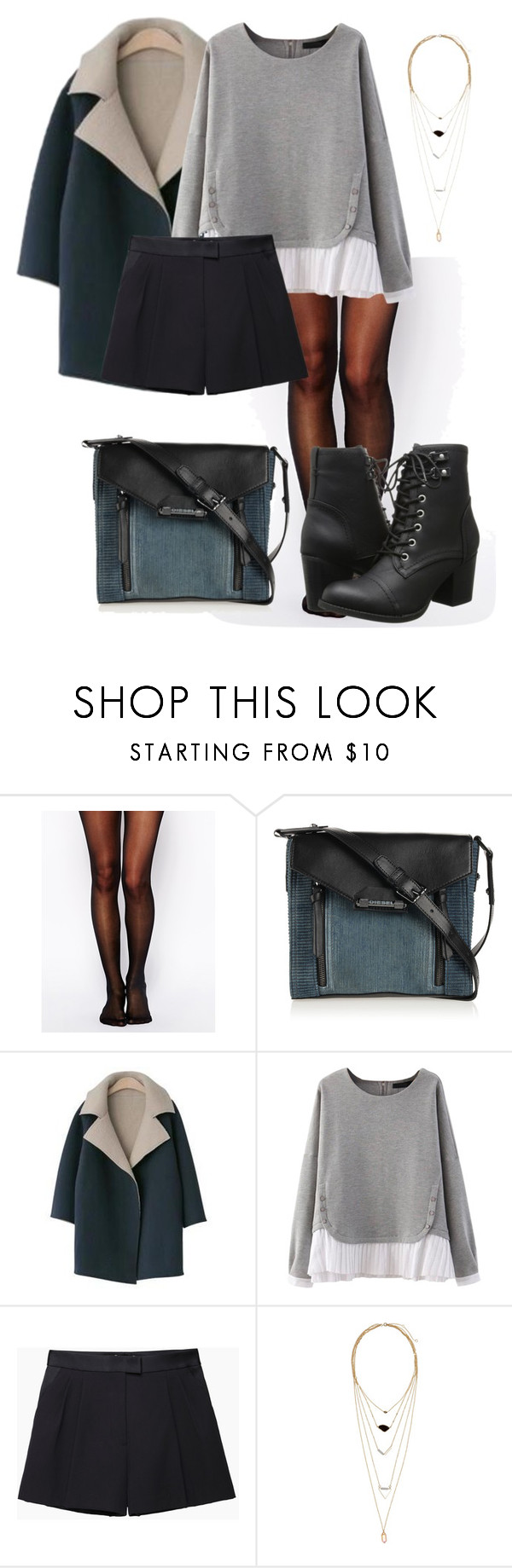 """""""Sem título #796"""" by biaprestes on Polyvore featuring moda, Wolford, Diesel, PEPER, 3.1 Phillip Lim, H&M e Madden Girl"""