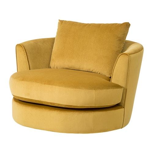 Fasalt Velvet Yellow Swivel Armchair Ikea Swivel Armchair Ikea Armchair Swivel Chair Living Room