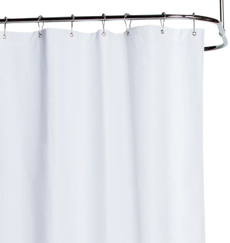 White Cotton Duck Cloth Shower Curtain Decorating Fabric